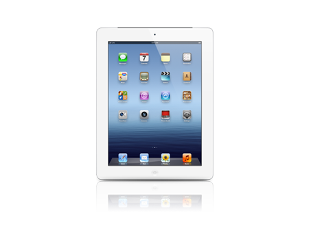 Apple-iPad with Wi-Fi + Cellular 64GB-White