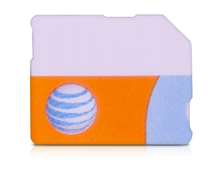 AT&T-SIM Card for iPhone 7 series-Orange