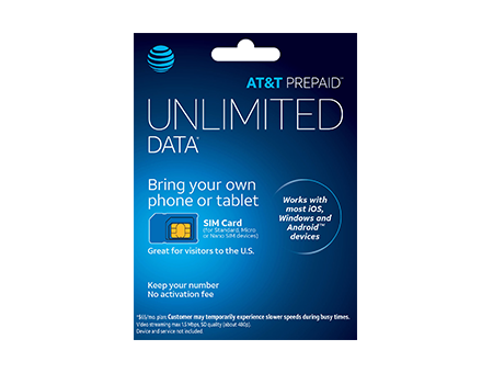 At T Prepaid Sim Card Kit Phone