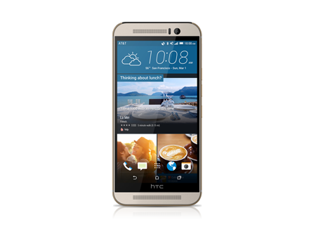 HTC-One M9-Gold on Silver