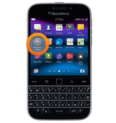 BlackBerry Classic (SQC100-2) - Download apps & games - AT&T