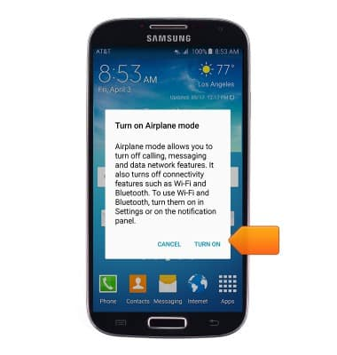 Samsung Galaxy S4 I337 Airplane Mode At T