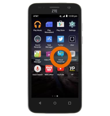 ZTE Maven (Z812) - Change or Reset Voicemail Password - AT&T