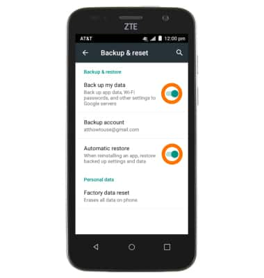 ZTE Maven (Z812) - Backup & Restore with Google - AT&T