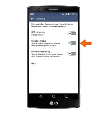 LG G4 (H810) - Mobile hotspot - AT&T