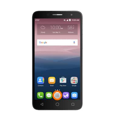 Add Apps to Home Screen Tutorial for Alcatel ONETOUCH ALLURA (5056O