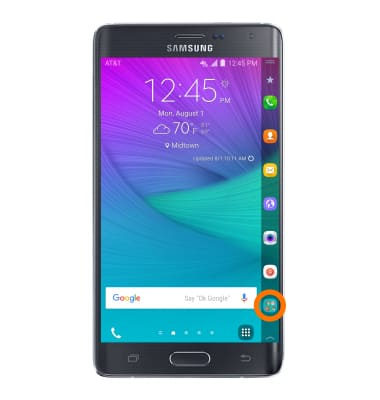 Samsung Galaxy Note Edge (N915A) - Browser options - AT&T