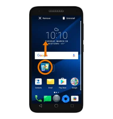 Alcatel IdealXCITE / CAMEOX (5044R) - Remove an App - AT&T