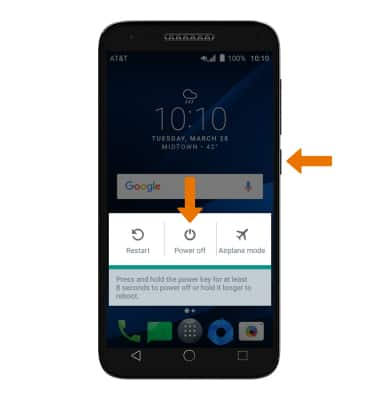 Alcatel IdealXCITE / CAMEOX (5044R) - Reset Device - AT&T