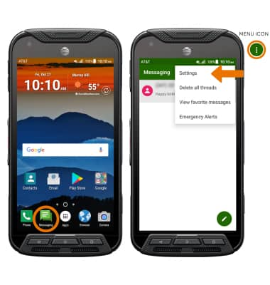 Kyocera DuraForce Pro (E6820) - Messaging Settings - AT&T