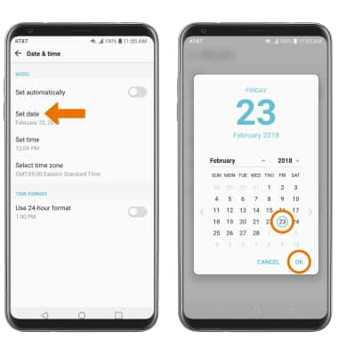 LG V30 (H931) - Date & Time - AT&T