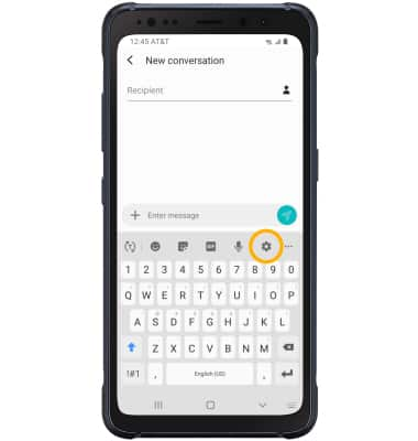 Samsung Galaxy S8 Active G892a Keyboard Typing At T