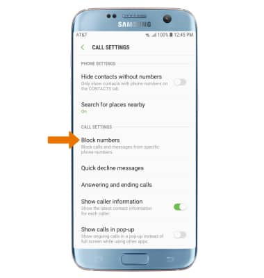 How to block private numbers on samsung galaxy s7 edge