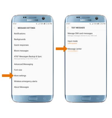 Samsung Galaxy S7 edge (G935A) - Messaging Settings - AT&T