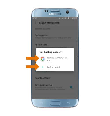 Samsung Galaxy S7 edge (G935A) - Backup & Restore with Google - AT&T
