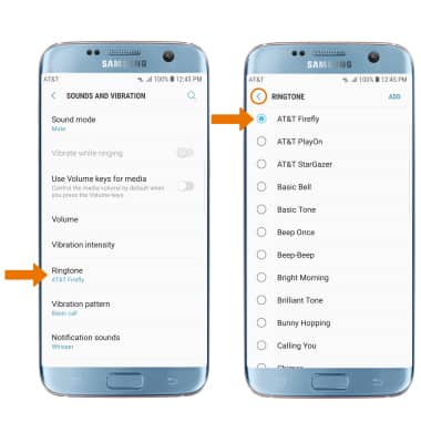 Samsung Galaxy S7 edge (G935A) - Sounds & Alerts - AT&T