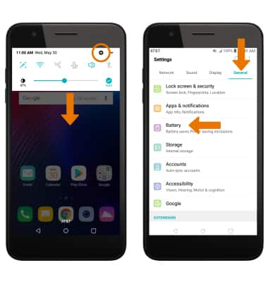 LG Phoenix Plus / K30 (LM-X410AS) - Battery Life - AT&T