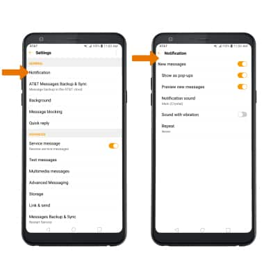 LG Stylo 4+ (LM-Q710WA) - Messaging Settings - AT&T