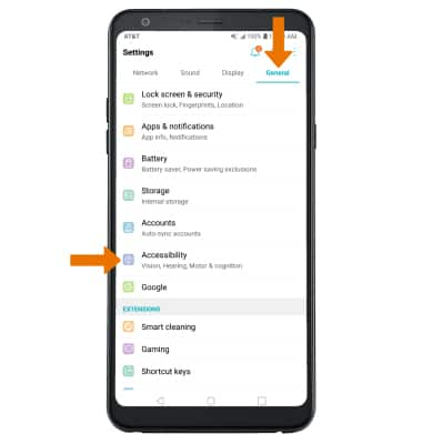 LG Stylo 4+ (LM-Q710WA) - Accessibility - AT&T