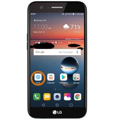 LG K20 (M255) - Email Settings - AT&T