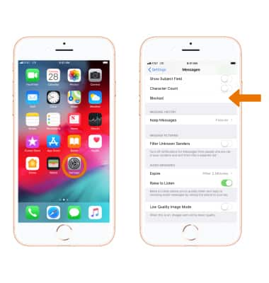 Apple iPhone 8 / 8 Plus - Block Messages - AT&T