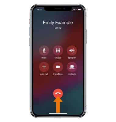 Apple Iphone X In Call Options At T