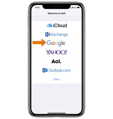How to setup email in iphone x