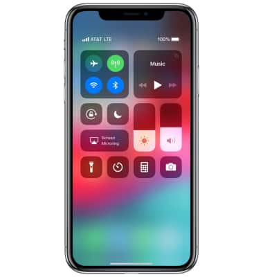 reputable site 9a6bf 52fe1 Apple iPhone X - Control Center - AT&T