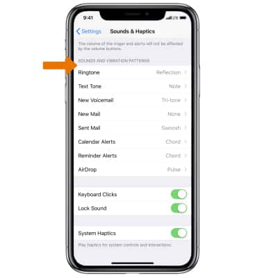 Apple iPhone X - Sounds & Alerts - AT&T