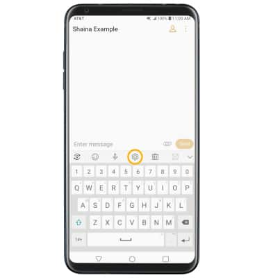 LG V35 ThinQ (LM-V350) - Keyboard & Typing - AT&T