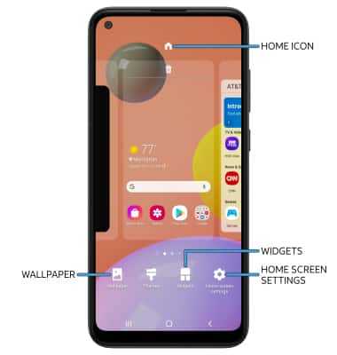 Samsung Galaxy A11 Sm A115a Learn Customize The Home Screen At T