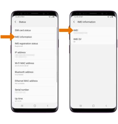 Samsung Galaxy S9 / S9+ (G960U/G965U) - Find IMEI, Serial