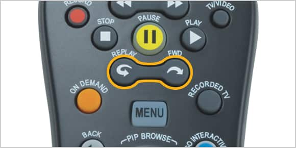 Buttons on U-verse remote control
