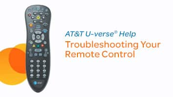Play video: Troubleshoot Your U-verse TV Remote Control