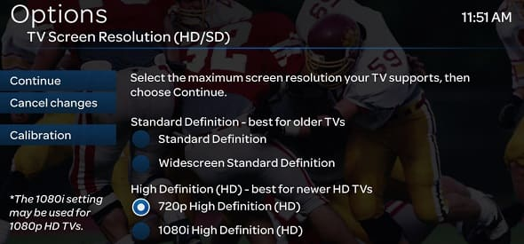 Changing Your TV Screen Resolution - U-verse TV Support