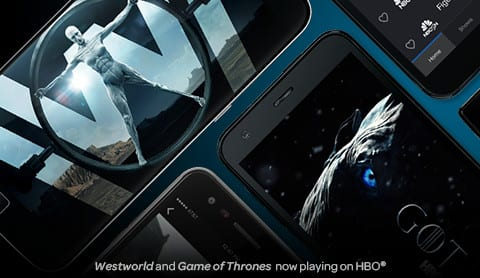 Westworld and Game of Thrones now playing on HBO.