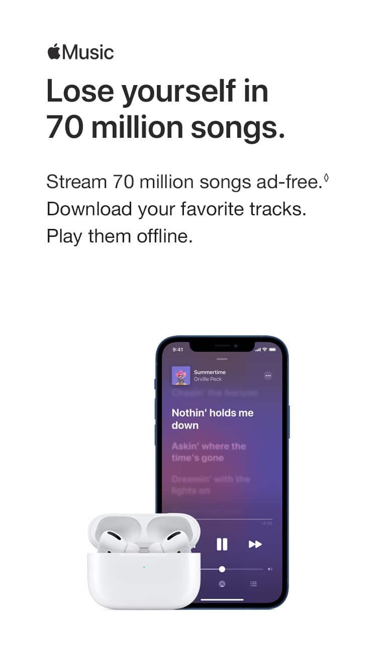 Music. Lore yourself in 70 million songs. Stream 70 million songs ad-free.(♢) Download your favorite tracks. Play them offline.