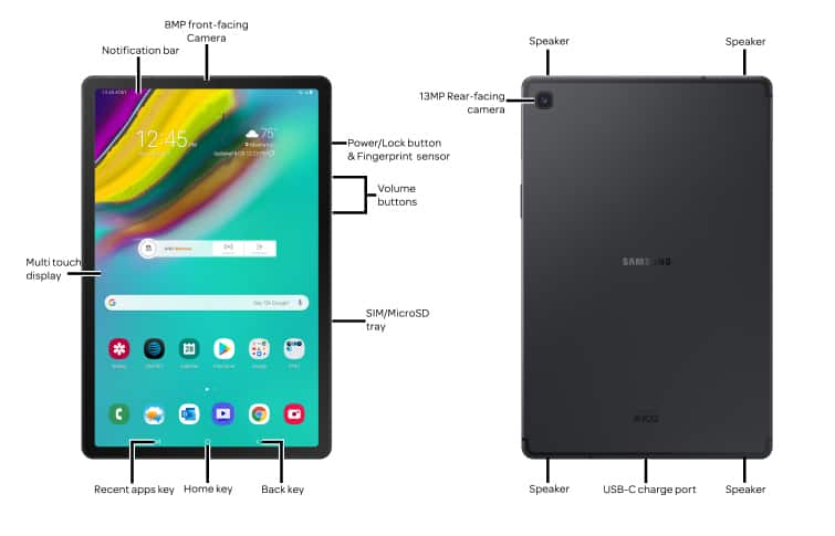 Samsung Galaxy Tab S5e (SMT727A) Device Help & How-To Guides