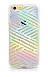 Estuche Sonix Criss Cross Rainbow para iPhone 6/6s, transparente
