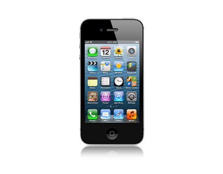 Apple-iPhone 4S - 16 GB- Negro