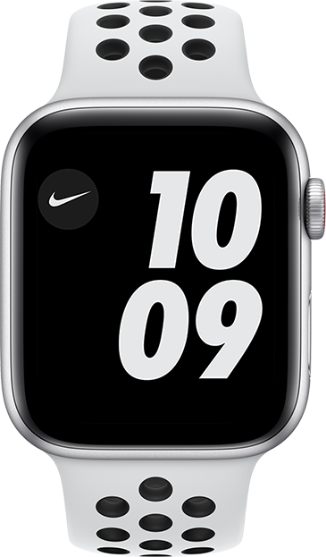 Apple Watch Nike SE - 44mm - Silver Aluminum Pure Platinum Black