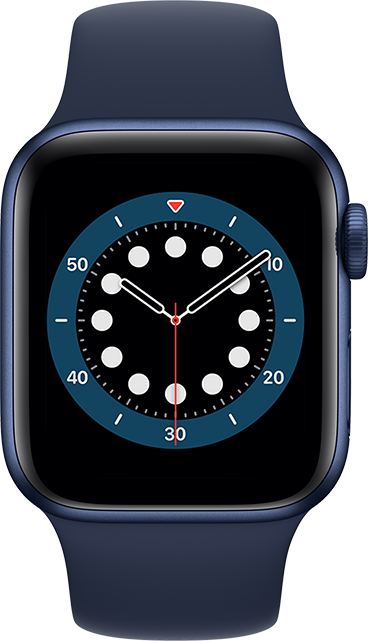 Apple Watch Series 6 - 40mm - Blue Aluminum - Deep Navy Sport