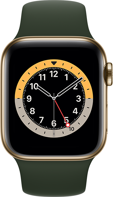 Apple Watch Series 6 - 40mm - Gold Stainless - Cyprus Green Sport