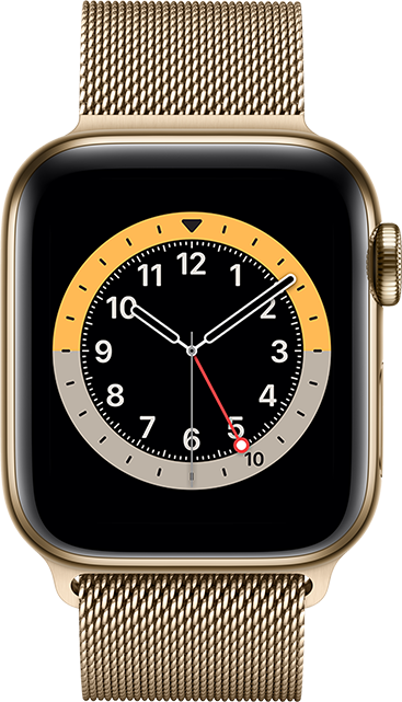 Apple Watch Series 6 - 44mm - Gold Stainless - Gold Milanese