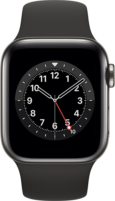 Apple Watch Series 6 - 44mm - Graphite Stainless - Black Sport