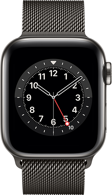 Apple Watch Series 6 - 40mm - Graphite Stainless - Graphite Milanese