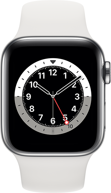 Apple Watch Series 6 - 44mm - Silver Aluminum - White Sport