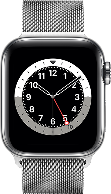 Apple Watch Series 6 - 40mm - Silver Stainless - Silver Milanese