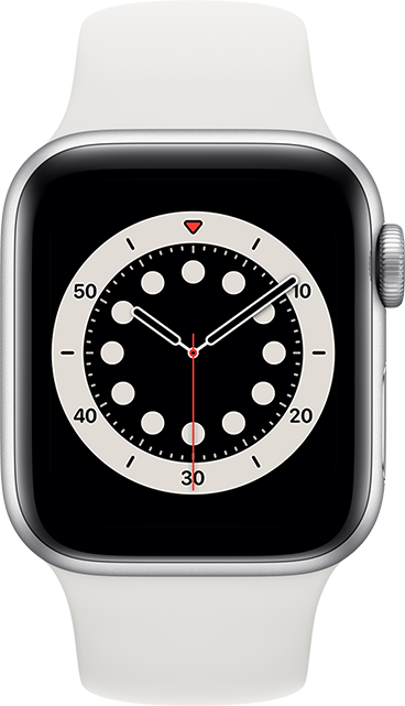 Apple Watch Series 6 - 40mm - Silver Stainless - White Sport