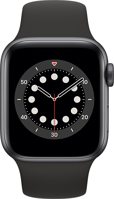 Apple Watch Series 6 - 40mm - Space Gray Aluminum - Black Sport